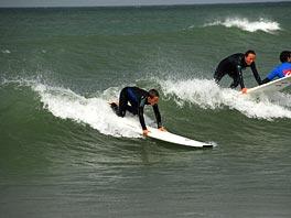 Oscar paddle surfer i Klitmøller
