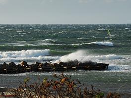 Perfekte logo høje bølger i Tisvilde 24/8 2010