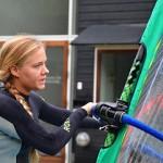 Xenia Kessler holdt mini kursus hos Furesøbad Windsurfing Klub