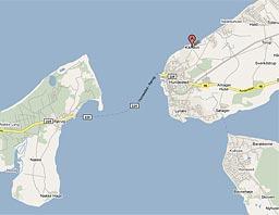 Kort over Kikhavn - Hundested - Lynæs - Rørvig