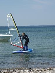 Windsurfing med ungerne på Langeland 6. Juni 2008