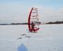 Rune Pagter på is windsurf board - Arresøen d. 23/1 2010