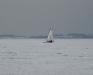 En DN'er i fuld fart - Arresøen d. 23/1 2010